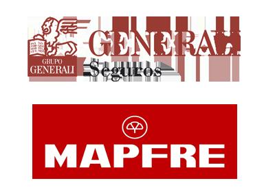 Compañías aseguradoras MAPFRE y GENERALI Seguros