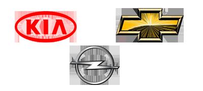 Opel, KIA y Chevrolet